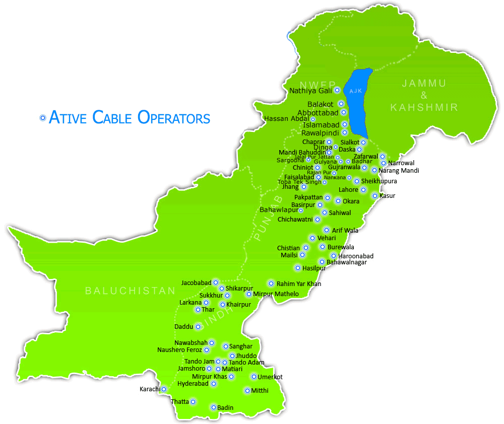 cable operators map pakistan